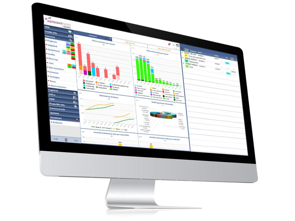 Via de online beheerstool van Maintenance Masters volgt u het beheer van uw technische installaties op de voet op.